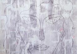 Репа Катерина. Жанна ( 65x60 см / ДВП (оргалит) / 2017 г. )