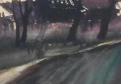 Минкович Любовь. Сумерки ( 60x50 см / бумага / акварель / 1990 г. )