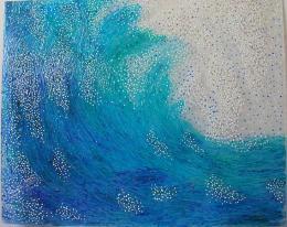 Большой Марина. волна ( 75x60 см / другое / авторская техника / 2015 г. )