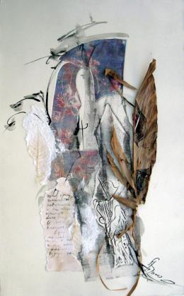 Сорочинская Ирина. Старые письма ( 40x86 см / бумага / авторская техника )