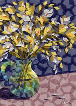 Gershman Marina. Freesia ( 13x18 см / ткань / авторская техника / 2011 г. )