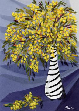 Gershman Marina. Mimosa ( 13x18 см / ткань / авторская техника / 2010 г. )