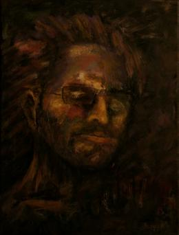 """Розенберг Яков. Яков Розенберг. """"Изоляция. День 36"""". Автопортрет ( 30x40 см / холст / акрил / 2020 г. )"""