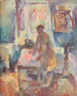 Финкельштерн Давид. Мама ( холст / масло / 1990 г. )