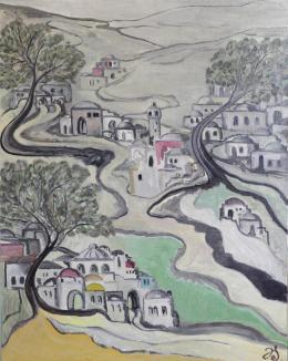 Эткин Дмитрий. Весна в горах Иудеи ( 100x80 см / холст / масло / 2020 г. )