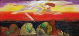 Фирер Олег. Борьба Иакова с ангелом ( 130x60 см / холст / масло / 2020 г. )