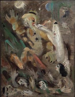 Фирер Олег. Голем ( 69x90 см / холст / масло / 1985 г. )