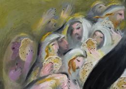 Фирер Олег. Фрагмент. Однажды в Иерусалиме. Седер Песах ( 87x74 см / холст / масло / 2020 г. )