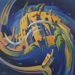 Табачник Юрий. Иерусалимский волчок (Севивон) ( 70x70 см / холст / масло )