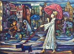 Барштейн Лера. Дождь в Амстердаме ( 60x50 см / холст / масло / 1997 г. )
