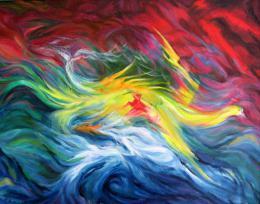 Bukhin Maya. Sea storm   ( 65x50 см / картон / масло / 2000 г. )
