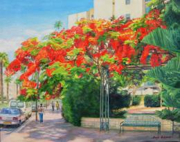 Bukhin Maya. Summer's  day (Ashkelon).  ( 50x40 см / холст / масло / 2014 г. )