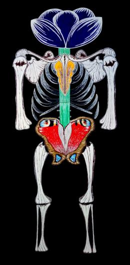 Репа Катерина. Скелет 2 ( 50x100 см / холст / акрил / 2018 г. )