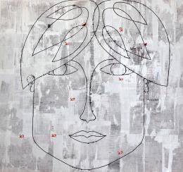 Репа Катерина. Тимур ( 65x60 см / ДВП (оргалит) / авторская техника / 2017 г. )