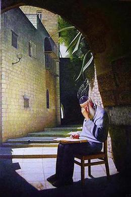 Гуревич Эдуард. Шабат в Старом Иерусалиме. ( 80x120 см / холст / масло / 2007 г. )