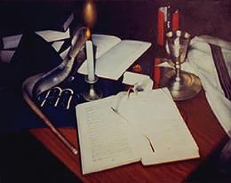 Гуревич Эдуард. Натюрморт со свечей.  ( 60x40 см / холст / масло / 1997 г. )