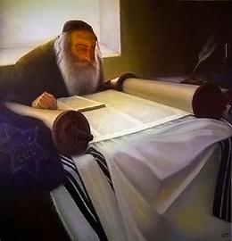 Гуревич Эдуард.  Talmudist from Jewish Slobodka.  ( 90x90 см / холст / масло / 2005 г. )