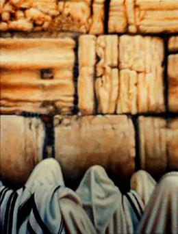 Гуревич Эдуард. Западная Стена. ( 40x60 см / холст / масло / 1992 г. )