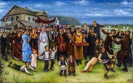 Гуревич Эдуард. Свадьба в еврейской слободке ( холст / масло )