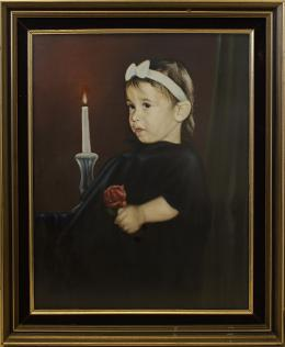 Гуревич Эдуард. Портрет дочери Йоава Панири. ( 70x90 см / холст / масло / 1992 г. )