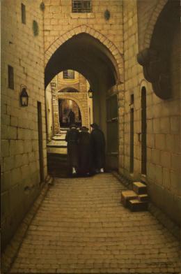 Гуревич Эдуард. Старый Иерусалим. Переулок в Еврейском квартале. ( 64x100 см / холст / масло / 2016 г. )