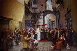 Гуревич Эдуард. Старый Иерусалим. Хупа. ( 120x80 см / холст / масло / 2005 г. )