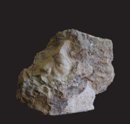 Бендерский Роман. Моисей. Доломит ( 55x60 см / мрамор / 1997 г. )