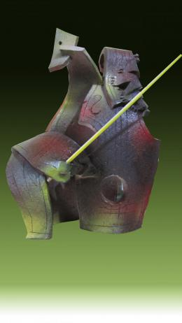 Бендерский Роман. Музыка. 2018 г., шамот, 26 х 20 х 12 ( 20x26 см / керамика / авторская техника / 2018 г. )