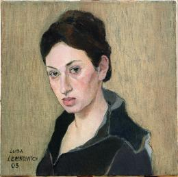 Meshulam Lemkovitch Lubov. Portrait of young woman ( 50x50 см / холст / масло / 2005 г. )
