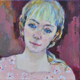 Meshulam Lemkovitch Lubov. Female portrait Irina ( 40x40 см / холст / масло / 2011 г. )
