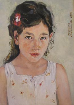 Meshulam Lemkovitch Lubov. Portrait of girl Naomi ( 35x50 см / холст / масло / 2014 г. )