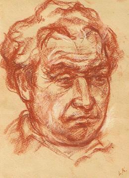 Кускин Леонид. Портрет отца ( 19x25 см / бумага / пастель / 1980 г. )